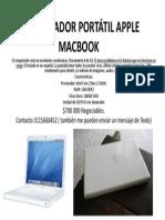 COMPUTADOR PORTÁTIL APPLE MACBOOK