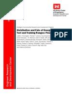 Distribution Fate Energetics DOD Ranges