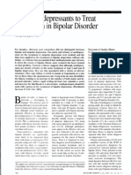 Use of Antidepressants to Treat Depression in Bipolar Disorder.