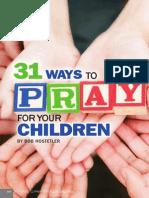 31ways Pray for Your Children