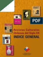 Revistas Culturales Chilena Del Siglo XX. Indice General