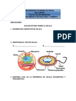 Guia de Estudio de La Celula