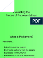 Evaluating the House of Representatives