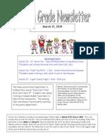 fourth grade newsletter 3