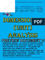 dimensional analysis preview