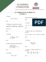 5ta Practica Dirigida de Algebra