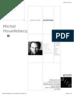 Michel Houellebecq - Poemas.