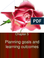 planning goals and learning outcomes