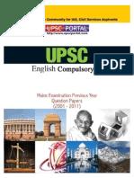 Download UPSC IAS Mains LAST 10 Year Papers English Compulsory