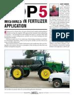 Top 5 Mistakes in Fertilizer Application PDF
