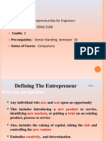 Entrepreneurship for Engineers