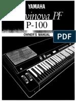 Manual Yamaha Clavinova P100