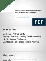 Hadoop vs MongoDB