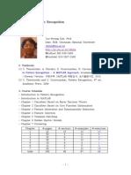 Pattern Recognition Syllabus 2013
