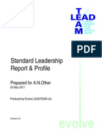 Example Standard Report and Profile v3.0