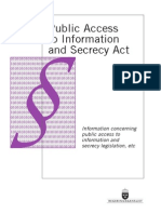 Sweden Public Access to Information and Secrecy Act