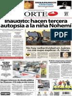 Periódico Norte de Ciudad Juárez edición impresa del 21 marzo del 2014