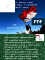 Wawasan Kebangsaan, Nasionalisme Dan Patriotisme Generasi Muda