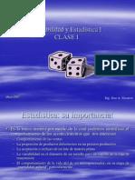 Clase # 1 Probabilidad y Estadística I