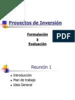 Proyectos de Inversion - Formulacion y Evaluacion
