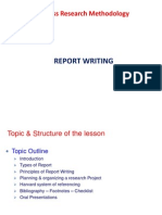 Brm Report Writing