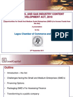 Nigeria Local Content Act-opportunities for Sme Financing
