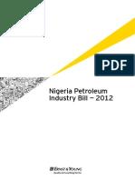 Nigeria Petroleum Industry Bill 2012