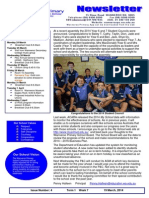 Newsletter 20 March 2014