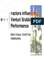 Factory Influencing Venturi Scrubber Perfomance