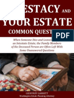 Intestacy and Your Estate Common Questions