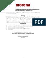 Convocatoria 2a Asamblea Municipal Loreto