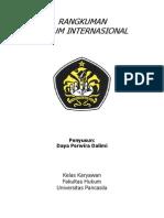 Rangkuman Hukum Internasional