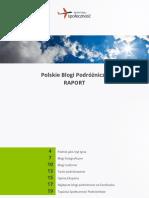 Polskie Blogi Podróżnicze [raport]