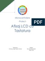 Proiect Atmega16 Conexiune RS232