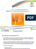Case Study ePublishing- Tomcat Java