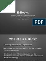Vortrag über E-Book im Social Media Club Bonn am 20.03.2014