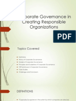 Role of Corporate Governance in Creating Responsibel Organizations (1)
