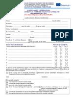 Formular Candidatura Erasmus 2014