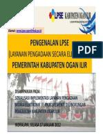 Sosialisasi LPSE Ogan Ilir