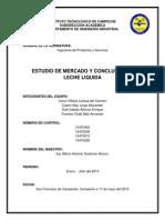 INVESTIGACIÓN DE MERCADO LECHE