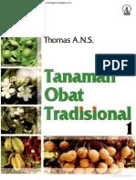 Tanaman Obat Tradisional dan Kegunaannya