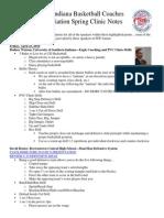 2010 IBCA Clinic Notes