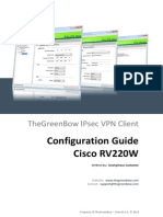 Cisco RV220-W VPN Router & GreenBow IPsec VPN Software Configuration