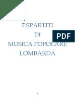 7 Spartiti di Musica Popolare Lombarda