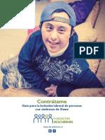 Contrátame, guía para la inclusión laboral de personas con síndrome de Down