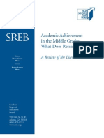 Academic Achievement in the Middle Grades