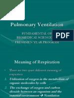 Pulmonary Ventilation 2011-2012