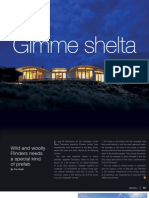 Sanctuary magazine issue 9 - Gimme shelta - EcoShelta green home profile