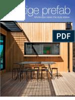 Sanctuary magazine issue 9 - Prestige prefab - Modscape green home profile