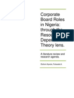 Corporate Board Roles in Nigeria I and RDT